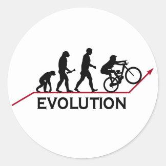 Evolución de la bici de montaña pegatina redonda