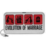 Evolución de la boda altavoz de viajar