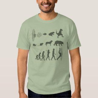 Evolución de la camiseta continua de la especie playeras