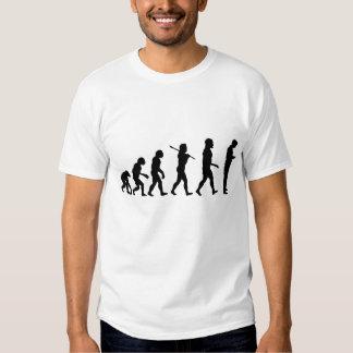 Evolución de la camiseta de Texting del hombre Poleras