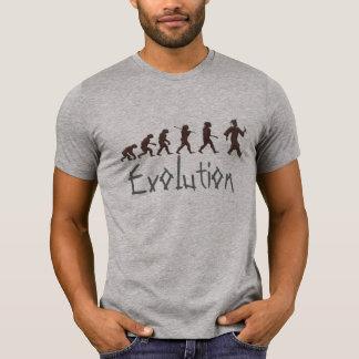 evolución de la camiseta divertida de la polera