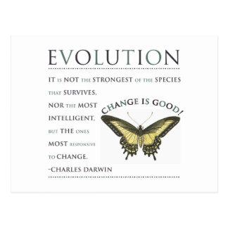 Evolución de la cita de Darwin Postal
