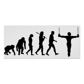 Evolución de la fan de deportes de los gimnastas d póster