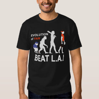 ¡Evolución de la fan, golpe L.A.! Camisas