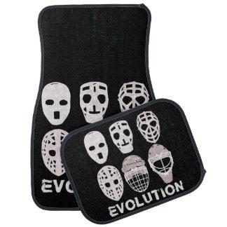 Evolución de la máscara del portero del hockey alfombrilla de auto