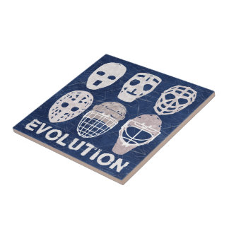 Evolución de la máscara del portero del hockey azulejo cuadrado pequeño
