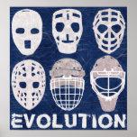 Evolución de la máscara del portero del hockey póster