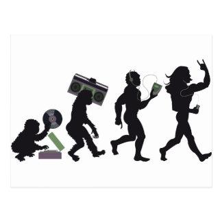 Evolución de la música tarjetas postales
