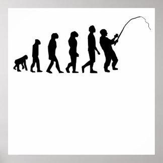 Evolución de la pesca poster