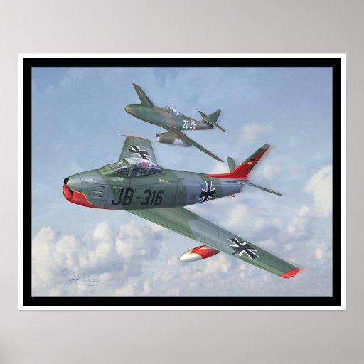 Evolución de la raza: F-86 y yo 262 en la formació Impresiones