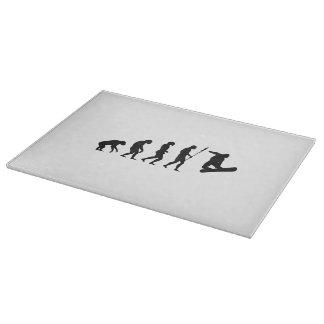 Evolución de la snowboard tabla de cortar