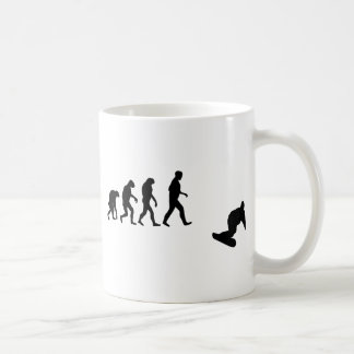 evolución de la snowboard tazas de café
