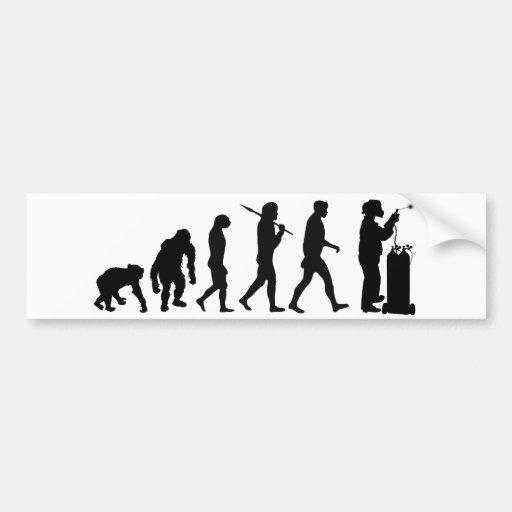 Evolución de la soldadura del trabajo para hombre  etiqueta de parachoque
