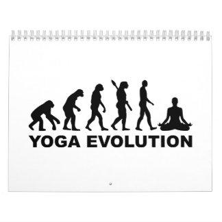 Evolución de la yoga calendario de pared