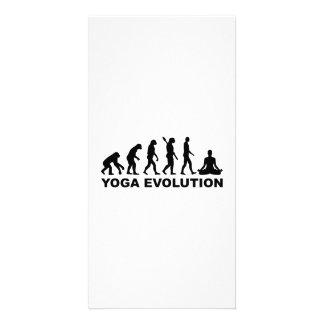 Evolución de la yoga plantilla para tarjeta de foto