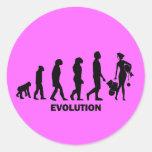 Evolución de las compras pegatina redonda
