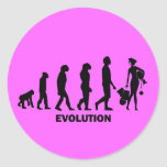 Evolución de las compras pegatinas redondas