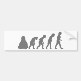 EVOLUCIÓN DE LINUX TUX PEGATINA DE PARACHOQUE