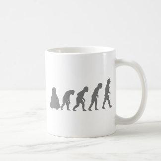 EVOLUCIÓN DE LINUX TUX TAZA DE CAFÉ