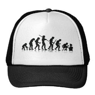 Evolución de los adictos a ordenador gorras