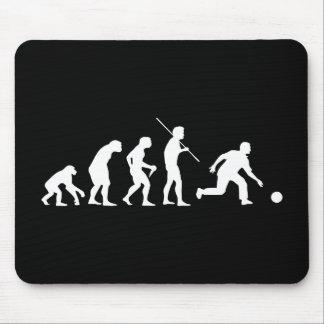 Evolución de los bolos del hombre al jugador de bo mouse pad
