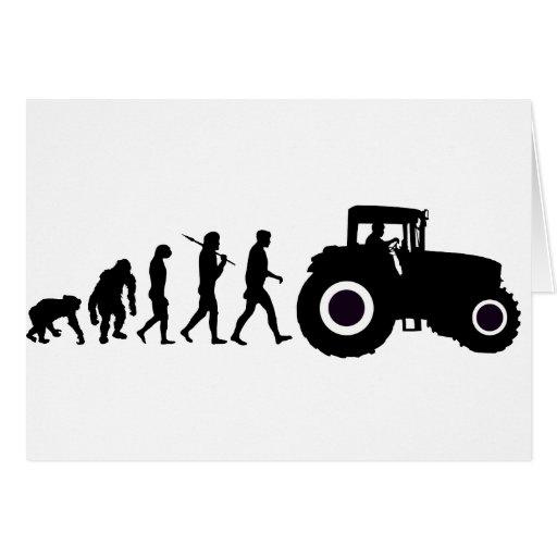 Evolución de los granjeros de cultivar conductores felicitacion