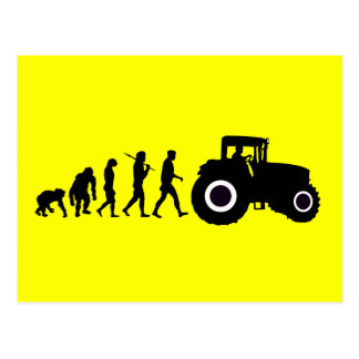 Evolución de los granjeros de cultivar conductores tarjeta postal