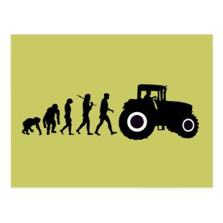Evolución de los granjeros de cultivar conductores postales