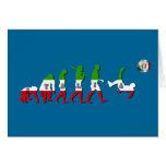 Evolución de los regalos italianos de Italia Calci Tarjetas