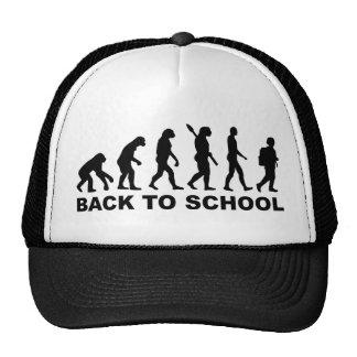 Evolución de nuevo a escuela gorros bordados