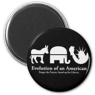 Evolución de un americano imán redondo 5 cm