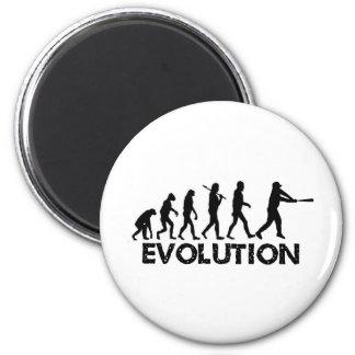 Evolución de un jugador de béisbol imán para frigorífico