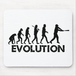 Evolución de un jugador de béisbol tapete de ratones