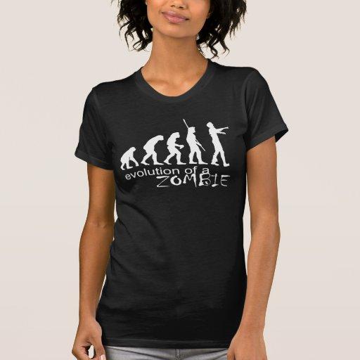 evolución de un zombi camiseta