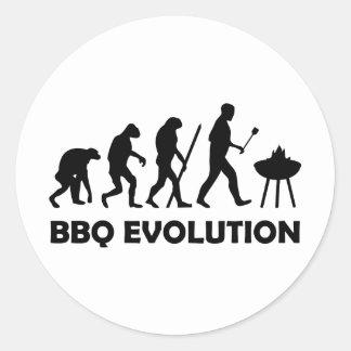 evolución del Bbq Pegatina Redonda
