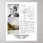 Evolución del beagle del HMS del collage de Charle Poster