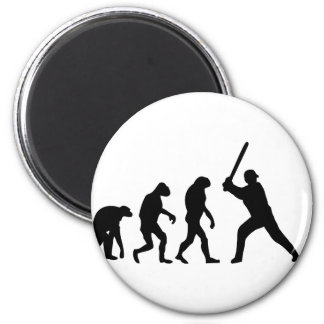 evolución del béisbol imán de frigorifico