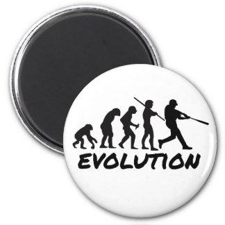 Evolución del béisbol iman de frigorífico