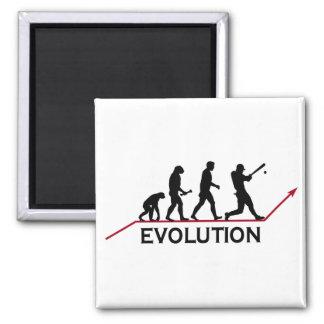 Evolución del béisbol imán de frigorífico
