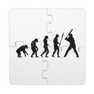 Evolución del béisbol posavasos de puzzle