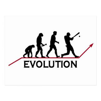 Evolución del béisbol postales