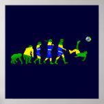 Evolución del Brasil de los regalos del futebol de Póster