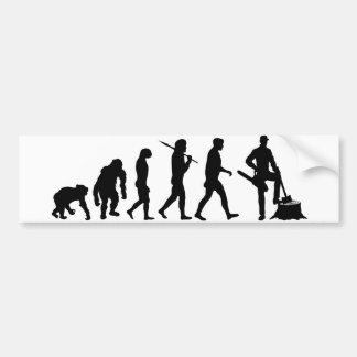 Evolución del bunyan de los madereros del feller d pegatina de parachoque