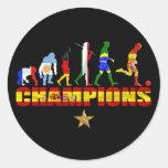 Evolución del campeón español del mundo de España Pegatina Redonda