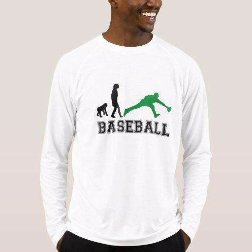 Evolución del centro campo del béisbol (verde) t-shirts