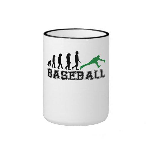 Evolución del centro campo del béisbol (verde) taza