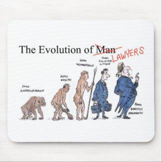 Evolución del cojín de ratón del hombre tapetes de ratón