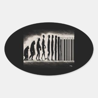 Evolución del diseño del hombre - marca de la pegatina ovalada