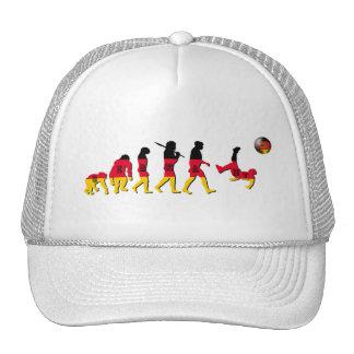 Evolución del fútbol alemán gorras de camionero