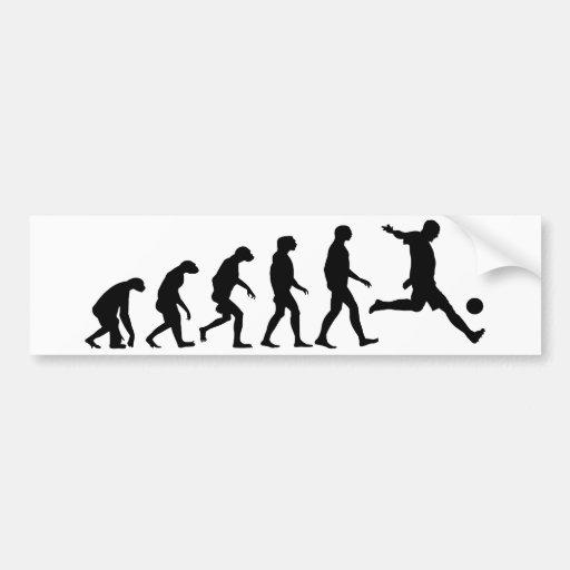 Evolución del fútbol pegatina de parachoque